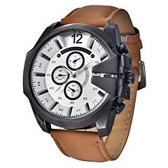 お買い得  大特価腕時計-男性用 リストウォッチ クォーツ ブラック / ブルー / ブラウン ハンズ チャーム ファッション - Brown ブルー カーキ色 / ステンレス