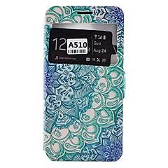 tanie Galaxy A5 Etui / Pokrowce-Kılıf Na Samsung Galaxy Samsung Galaxy Etui Etui na karty Odporne na kurz Odporne na wstrząsy Z podpórką Pełne etui Mandala Miękkie Skóra