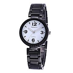 preiswerte Damenuhren-REBIRTH Damen Armbanduhr Schlussverkauf / / Legierung Band Freizeit / Modisch Schwarz / Gold