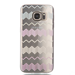 Varten Samsung Galaxy S7 Edge Läpinäkyvä / Kuvio Etui Takakuori Etui Linjat / aallot Pehmeä TPU Samsung S7 edge / S7 / S6 edge / S6 / S5