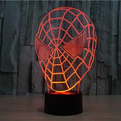 spider-man contact dimmen 3D LED 's nachts licht 7colorful decoratie sfeer lamp nieuwigheid verlichting kerstverlichting