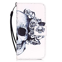 tanie Etui do iPhone 6 Plus-Kılıf Na Apple iPhone X iPhone 8 iPhone 6 iPhone 7 Plus iPhone 7 Etui na karty Wzór Pełne etui Czaszki Twarde Skóra PU na iPhone X iPhone