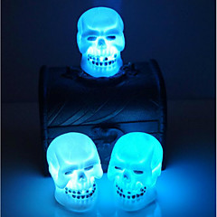 판매 할로윈 장식 용품 두개골 야간 조명 임의의 색상
