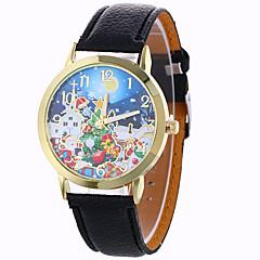 お買い得  レディース腕時計-女性用 ファッションウォッチ / ドレスウォッチ / リストウォッチ / PU バンド スノーフレーク柄 ブラック / 白 / ブルー / 1年間 / SODA AG4