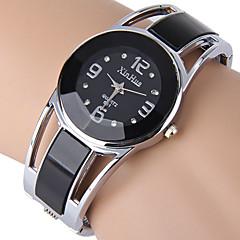 preiswerte Damenuhren-Damen Quartz Simulierter Diamant Uhr Armband-Uhr Strass Imitation Diamant Edelstahl Band Kleideruhr Modisch Armreif Schwarz Blau