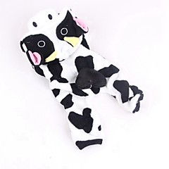 お買い得  犬用ウェア&アクセサリー-ネコ 犬 コスチューム ジャンプスーツ 犬用ウェア 動物 ホワイト-ブラック コーデュロイ コスチューム ペット用 男性用 女性用 キュート コスプレ