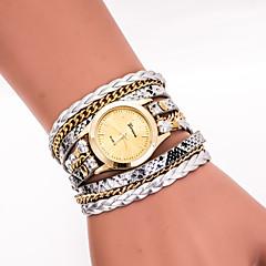 preiswerte Tolle Angebote auf Uhren-Damen Quartz Armbanduhr / Armband-Uhr Cool PU Band Retro / Freizeit / Böhmische / Modisch Schwarz / Weiß / Blau / Silber / Rot / Gold /