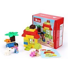 tanie -Klocki na prezent Klocki Kwadratowe / Samochód Tworzywo sztuczne powyżej 3 Tęczowy Zabawki