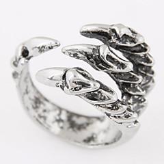 Obrączki Stop Biżuteria Modny Postarzane Silver Biżuteria Codzienny Casual 1szt