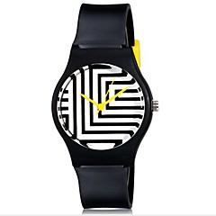 preiswerte Damenuhren-Armbanduhr Cool / Mehrfarbig Plastic Band Süßigkeit / Freizeit Schwarz / Weiß / Blau
