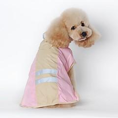 お買い得  犬用ウェア&アクセサリー-ネコ 犬 レインコート 犬用ウェア ソリッド ブルー ピンク テリレン コスチューム ペット用 男性用 女性用 防水