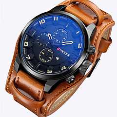 cheap Leather Band Watches-CURREN Men's Quartz Japanese Quartz Wrist Watch Military Watch Sport Watch Calendar / date / day Leather Band Luxury Vintage Casual Dress
