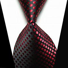 Stropdas Clip Modieus Kostuum juwelen Zwart Rood Stof Heren Dasspeld-