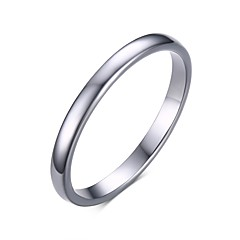 Unisex's Fashion Simple Generous Tungsten Steel High Polished   Band Rings(1Pc)