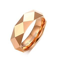 Bărbați Verighete La modă Personalizat costum de bijuterii Oțel Tungsten Placat Cu Aur Roz Geometric Shape Bijuterii Pentru Nuntă