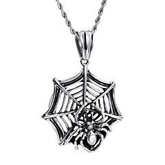 Муж. Ожерелья с подвесками Бижутерия В форме животных Пауки Нержавеющая сталь По заказу покупателя Бижутерия НазначениеДля вечеринок
