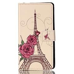 Для Кейс для Sony Кошелек / Бумажник для карт / со стендом / Флип Кейс для Чехол Кейс для Эйфелева башня Твердый Искусственная кожа для