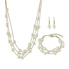 abordables Set de Joyas de Perlas-Mujer Perla Conjunto de joyas - Moda Incluir Dorado / Plata Para Boda / Fiesta / Diario / Pendientes / Collare / Pulsera