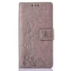 Для Кейс для Huawei / P9 / P9 Lite / P8 / P8 Lite / Mate 8 Бумажник для карт / со стендом / С узором / Рельефный Кейс для Чехол Кейс для