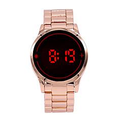 Αντρικά Ρολόι Καρπού Ψηφιακό ρολόι LED Οθόνη Αφής Ψηφιακό κράμα Μπάντα Φυλαχτό Rose