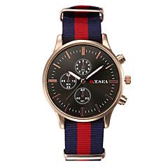 preiswerte Herrenuhren-Herrn Armbanduhr Armbanduhren für den Alltag Stoff Band Freizeit / Modisch Schwarz / Weiß / Edelstahl / Jinli 377