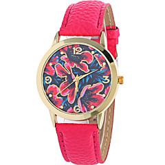お買い得  レディース腕時計-女性用 カジュアルウォッチ / ファッションウォッチ / リストウォッチ クール / / レザー バンド 花型 / カジュアル ブラック / 白 / ブラウン