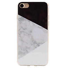 Pour iPhone 8 iPhone 8 Plus iPhone 7 iPhone 6 Coque iPhone 5 Etuis coque IMD Coque Arrière Coque Marbre Flexible PUT pour Apple iPhone 8