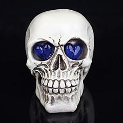 1 stk halloween dekorasjoner nye leker harpiks hodeskaller øyne glødende spøkelse en natt lys