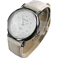 preiswerte Armbanduhren für Paare-YAZOLE Damen Paar Quartz Armbanduhr / Armbanduhren für den Alltag PU Band Retro Freizeit Cool Schwarz Weiß Rot Braun