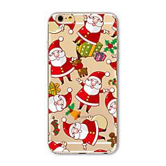 お買い得  iPhone 5S/SE ケース-ケース 用途 Apple iPhone X iPhone 8 Plus iPhone 5ケース iPhone 6 iPhone 7 半透明 パターン バックカバー クリスマス ソフト TPU のために iPhone X iPhone 8 Plus iPhone 8