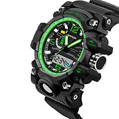 preiswerte Herrenuhren-SANDA Herrn Japanischer Quartz Armbanduhr Smartwatch Sportuhr Chronograph Wasserdicht LED Nachts leuchtend Stopuhr Duale Zeitzonen Silikon