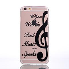 Для Кейс для iPhone 7 / Кейс для iPhone 7 Plus / Кейс для iPhone 6 Прозрачный / Рельефный / С узором Кейс для Задняя крышка Кейс для