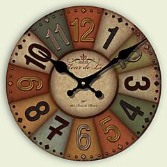 현대/현대 / 전통 / 레트로 / 오피스/ 비즈니스 주택 / 가족 / 학교/졸업 벽 시계,라운드 페이퍼 / 기타 34CM/14英尺 실내 시계