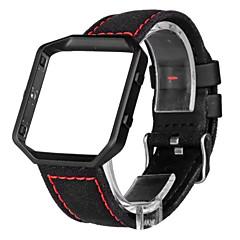 Красный / Черный / Белый Кожа Спортивный ремешок Для Fitbit Смотреть 23мм