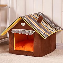 お買い得  犬用品&グルーミング用品-ネコ 犬 ベッド ペット用 マット/パッド カートゥン 折り畳み式 ソフト コーヒー レッド グリーン ブルー ピンク ペット用