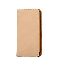 Для Кошелек / Бумажник для карт / Флип Кейс для Чехол Кейс для Один цвет Твердый Искусственная кожа Universal Other