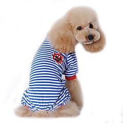 お買い得  犬用ウェア&アクセサリー-犬 ジャンプスーツ パジャマ 犬用ウェア セーラー ブラック レッド ブルー コットン コスチューム ペット用 男性用 女性用 キュート カジュアル/普段着