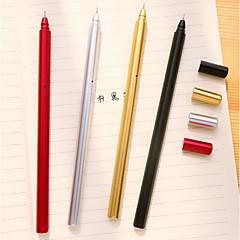 preiswerte Zubehör zum Zeichnen und Schreiben-Kugelschreiber Stift Gelstifte Stift, Kunststoff Rot Schwarz Blau Tintenfarben For Schulzubehör Bürobedarf Packung