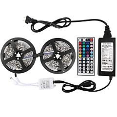 お買い得  LED ストリングライト-KWB 2 * 5メートル-5050から150-RGB-IP65 44k2 6apower供給は防水キットストリップライトを率いて