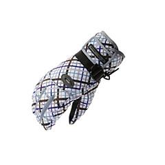 قفازات التزلج للمرأة اصبع كامل الدفء مقاوم للماء ضد الهواء التزلج التسلق أخضر/الدراجة التخييم والتنزه شتاء