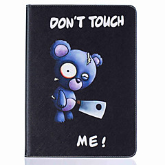Bear Pattern Painting PU Leather material Card Flat Shell For iPad Air 2 iPad Air