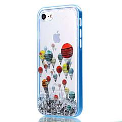 olcso iPhone tokok-Case Kompatibilitás Apple iPhone 8 iPhone 8 Plus iPhone 5 tok iPhone 6 iPhone 7 Átlátszó Minta Fekete tok Lufi Puha TPU mert iPhone 8