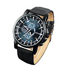 322 YAZOLE Fashion Men's Business Dress Watch Leather Strap Blue Ray Glass Noctilucent Analog Quartz Wrist Watches