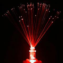 fibra luminiscente luz de la noche la pequeña llevó velas de colores color al azar se levantaron