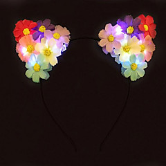 koorts oplichten kat oren bloemhoofdband geleid daisy hoofdband halloween giftchristmas cadeau party gift idee