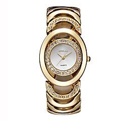 preiswerte Tolle Angebote auf Uhren-Damen Modeuhr Kleideruhr Armband-Uhr Quartz Cool Imitation Diamant Edelstahl Band Analog Luxus Retro Freizeit Silber / Gold / Rotgold - Silber Gold / Weiß Rotgold