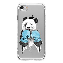 Недорогие Кейсы для iPhone 6 Plus-Кейс для Назначение Apple iPhone 7 / iPhone 7 Plus / iPhone 6 С узором Кейс на заднюю панель Кот / Панда Мягкий ТПУ для iPhone 7 Plus / iPhone 7 / iPhone 6s Plus