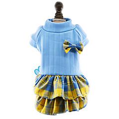 お買い得  犬用ウェア&アクセサリー-犬 ドレス 犬用ウェア 蝶結び ローズ レッド ブルー コットン コスチューム ペット用 女性用 キュート ファッション 新年
