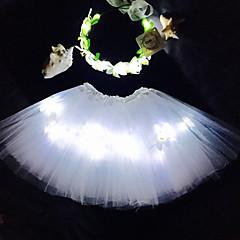 흰색 천사 투투 빛을 주도&헤드 밴드는 kidsgirlsadultshalloween coustumechristmas giftrave 투투 setcoachella에 대해 설정