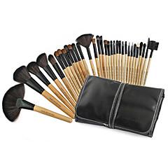 Χαμηλού Κόστους Makeup Brushes-32pcs Σετ Βούρτσα Βούρτσα από Τρίχα Κατσίκας Profesional / Φορητό Ξύλο Πρόσωπο / Τσάντες / Χείλος Άλλα
